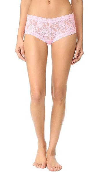 Hanky Panky 标志性蕾丝低腰平角内裤