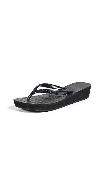 Havaianas High Light 坡跟夹趾凉鞋
