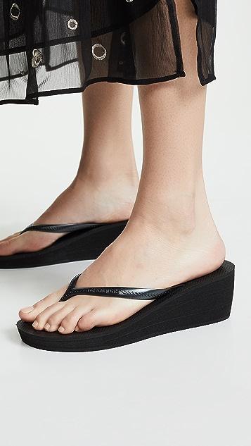 Havaianas High Fashion 坡跟夹趾凉鞋