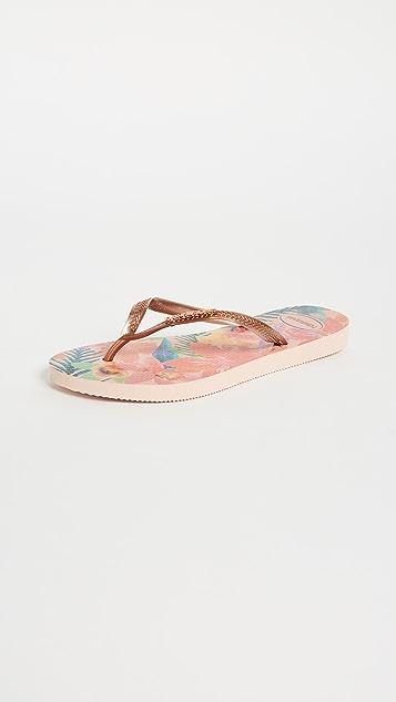 Havaianas 纤巧热带风情夹趾凉鞋