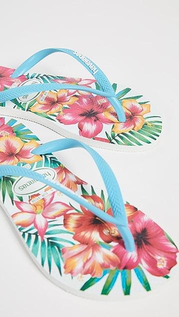 Havaianas Slim Hibisco 夹趾凉鞋