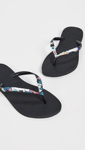 Havaianas 纤巧热带风情固定带夹趾凉鞋