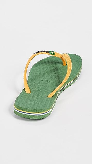 Havaianas 巴西贴合夹趾凉鞋