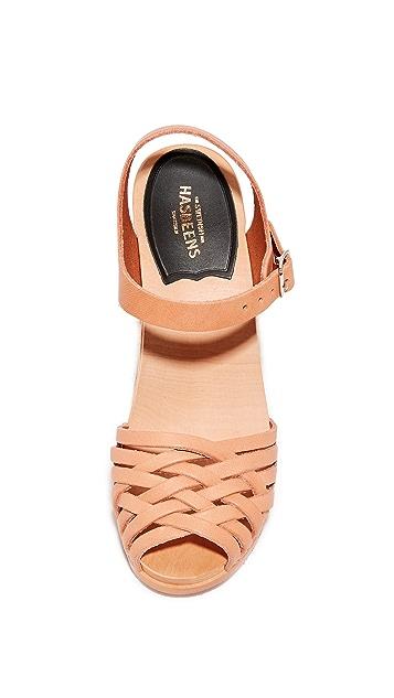 Swedish Hasbeens 穗形超高凉鞋
