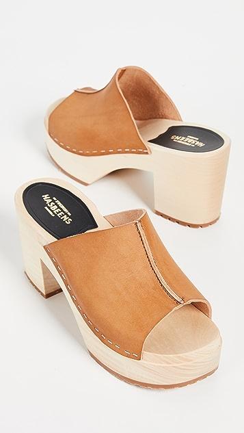 Swedish Hasbeens Ann 穆勒木底鞋