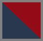 海军蓝/红色