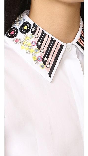 Holly Fulton 刺绣衣领长袖衬衣