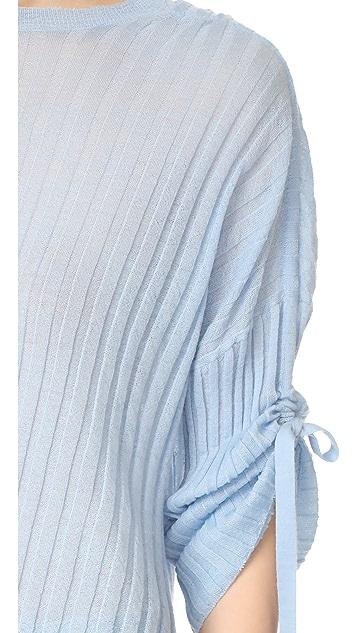 Helmut Lang 海尔姆特-朗 开司米羊绒绑带袖套头衫