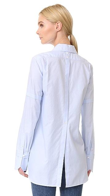 Helmut Lang Ticking 条纹礼服式衬衣