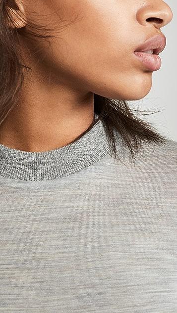 Helmut Lang 羊毛针织半高领套头衫