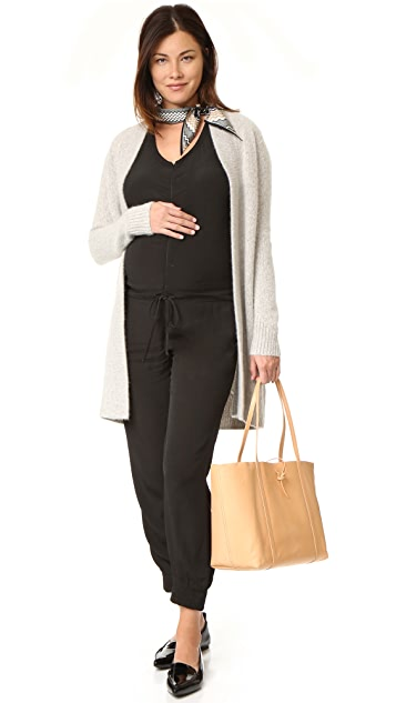 MONROW 孕妇装绉绸连身衣