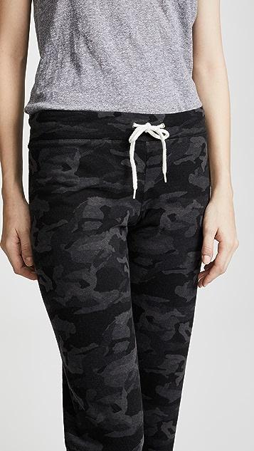 MONROW 迷彩复古运动裤