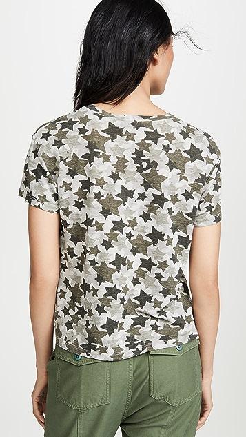 MONROW 迷彩星星圆领 T 恤