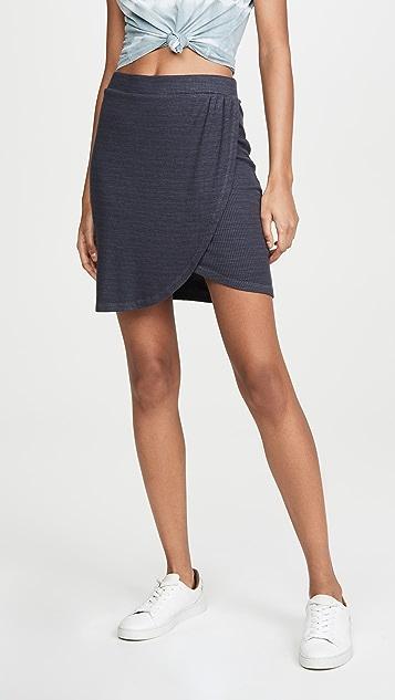 MONROW 罗纹环绕式半身裙