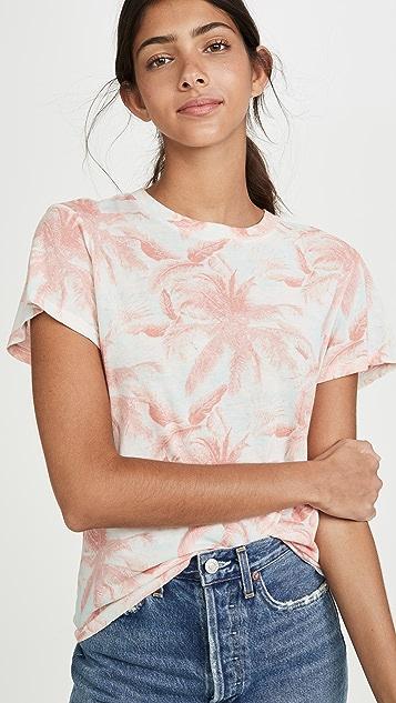 MONROW 棕榈休闲基本款圆领 T 恤