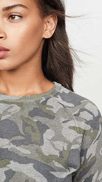 MONROW 灰色迷彩连肩运动衫