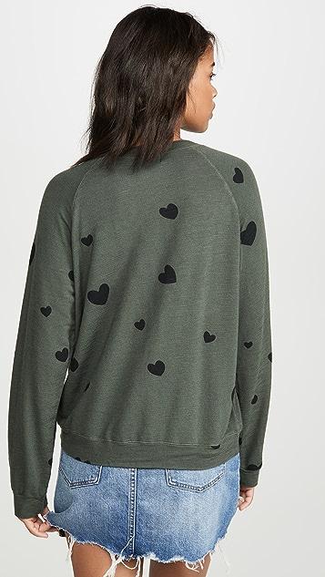 MONROW 零星心形连肩运动衫