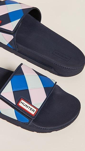 Hunter 靴子 原创可调节格纹便鞋