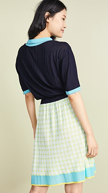 i-am-chen 有领针织连衣裙