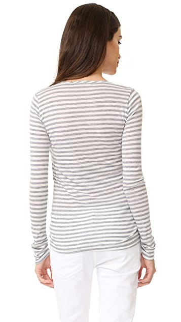 Ingrid & Isabel 条纹长袖孕妇装 T 恤