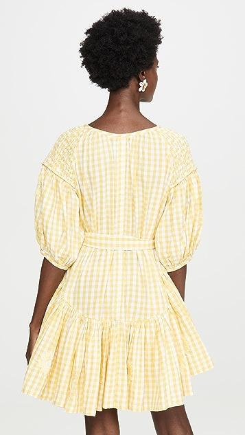 Innika Choo 流苏抽褶罩衫式连衣裙