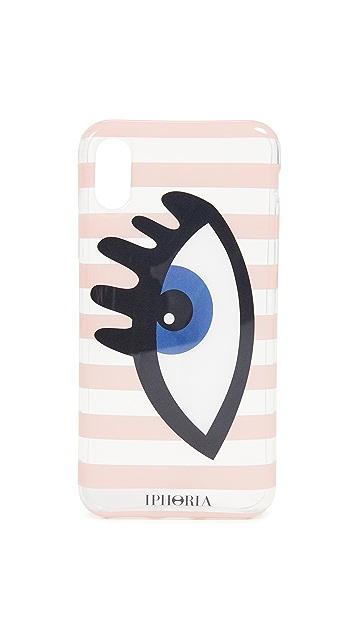 Iphoria 条纹眼睛蓝色 iPhone X 手机壳