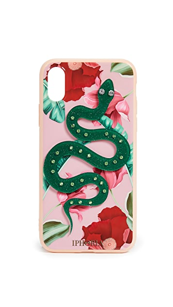 Iphoria Nude Flowers Snake iPhone X 手机壳