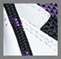 白色/紫色