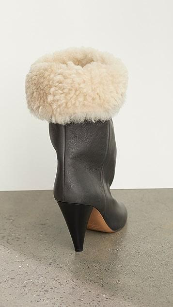 Isabel Marant Lakfee Shearling 褶皱靴子