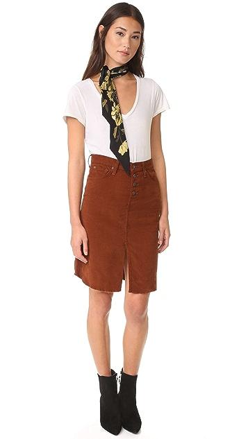 James 牛仔裤 Lana Baby 绳股前开衩半身裙