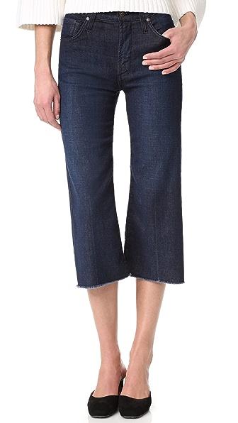 James Jeans Carlotta 高腰磨边牛仔裤