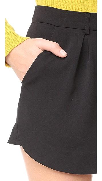 James 牛仔裤 拼接西裤式裙裤