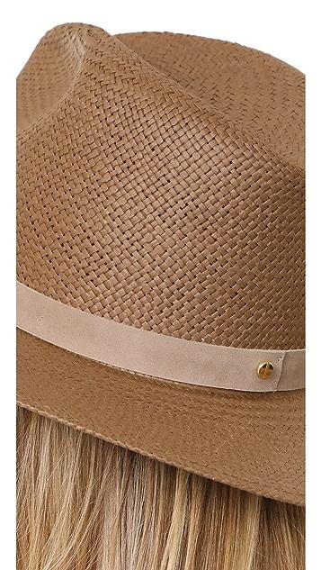 Janessa Leone Adriana 可折叠短帽沿费朵拉帽