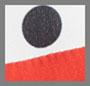 白色/黑色圆点花纹