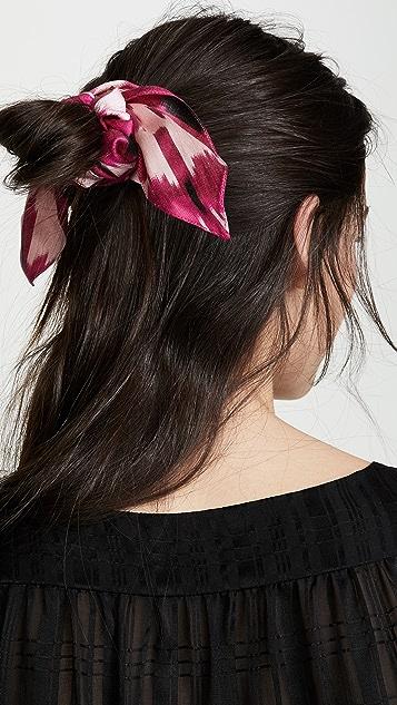 Jennifer Behr 扎染发束围巾