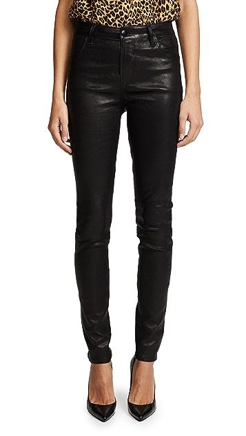 J Brand Maria 高腰皮裤