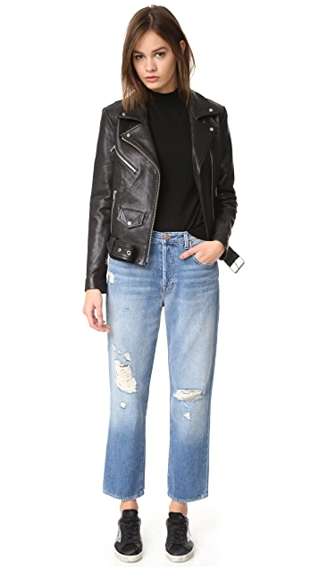 J Brand Ivy 高腰直脚九分牛仔裤