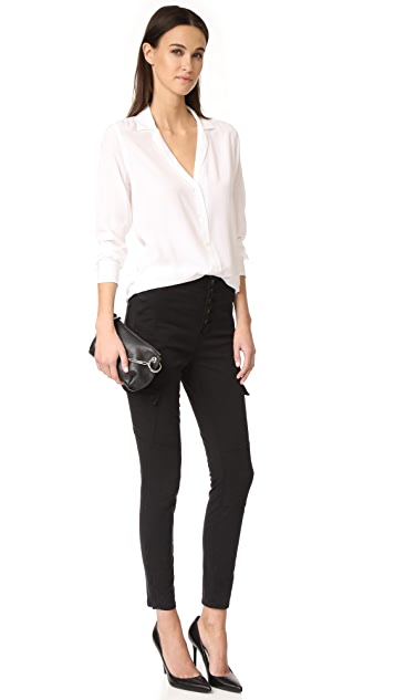 J Brand Brigitte Sky High 实用工装裤