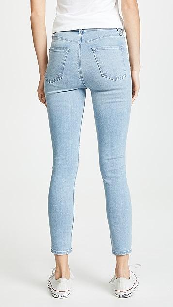 J Brand Lillie 高腰紧身九分牛仔裤