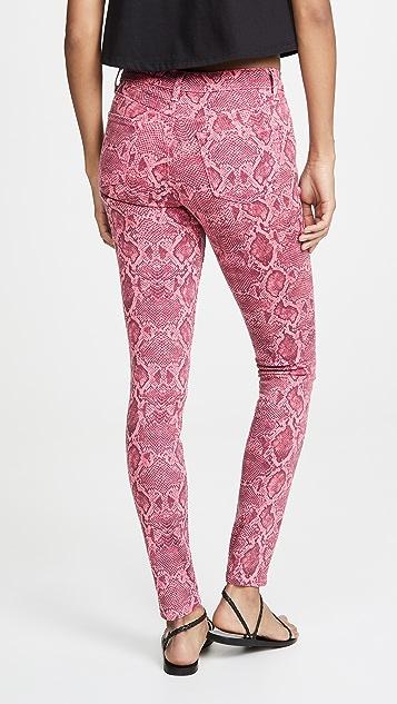 J Brand 620 Neon Pink Boa 牛仔裤