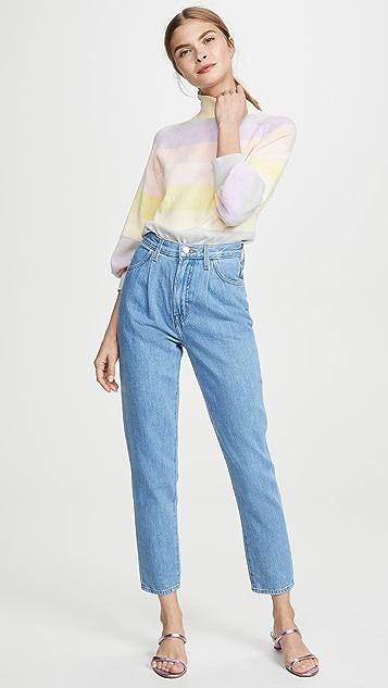 J Brand Peg 正面裥褶牛仔裤