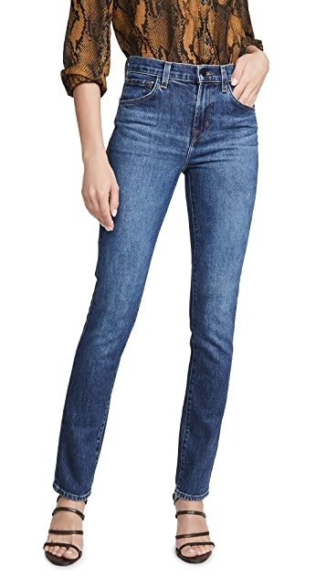 J Brand Ruby 高腰烟管牛仔裤