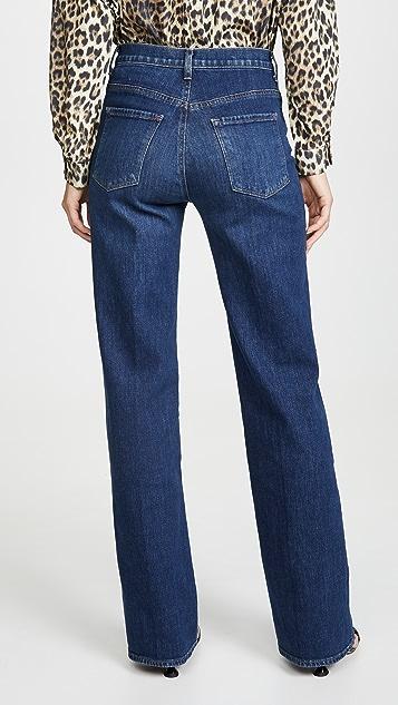J Brand Joan 高腰阔腿牛仔裤