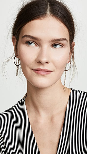 Justine Clenquet Julia 圈式耳环