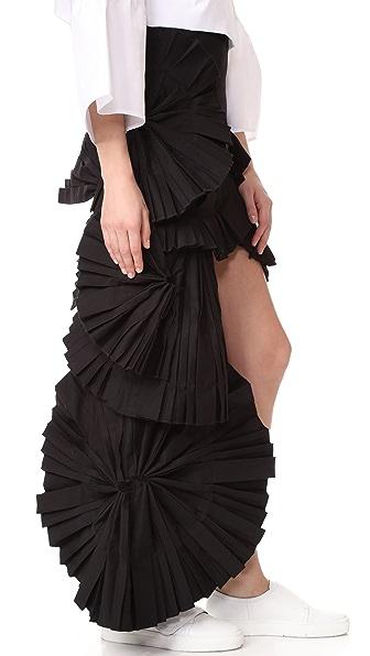 Jacquemus 荷叶边半身裙