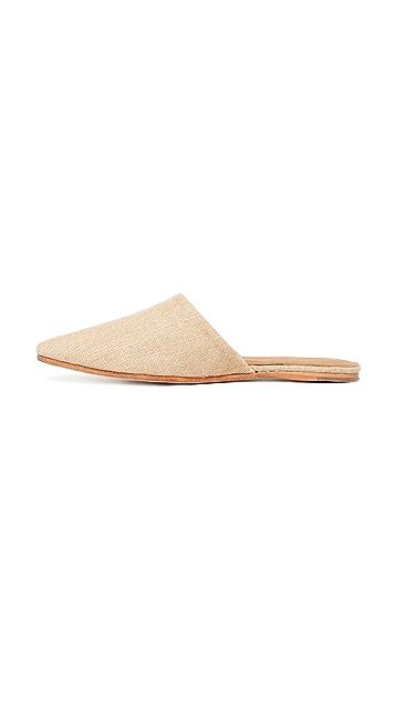 Jeffrey Campbell Doshi 亚麻平底穆勒鞋