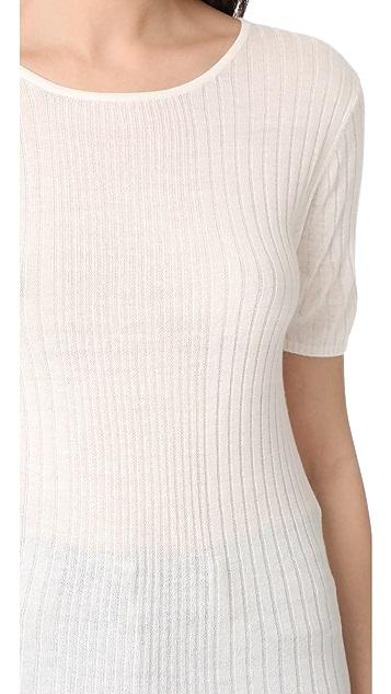 Jenni Kayne 混合罗纹 T 恤