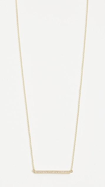 Jennifer Meyer Jewelry 镶钻石条状饰物 18k 金项链