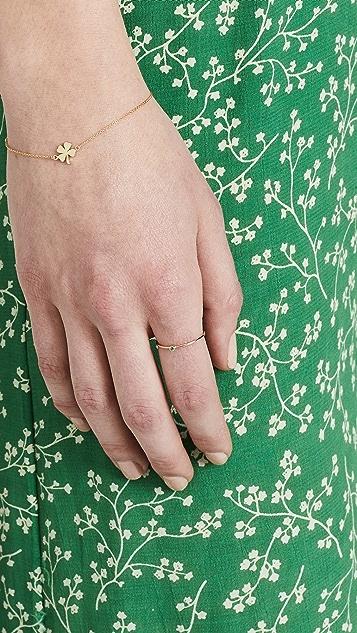 Jennifer Meyer Jewelry 细指环镶绿宝石 18k 金戒指