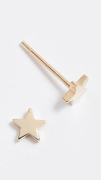Jennifer Meyer Jewelry 18K 金迷你星星耳钉
